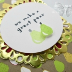 "Super ""sweet"" cards created with the Fruit Basket stamp set, Tutti Frutti designer paper and the Metallic Foil Doilies – all retiring soon. Click here for more information…#stampyourartout - Stampin' Up!® - Stamp Your Art Out! www.stampyourartout.com"