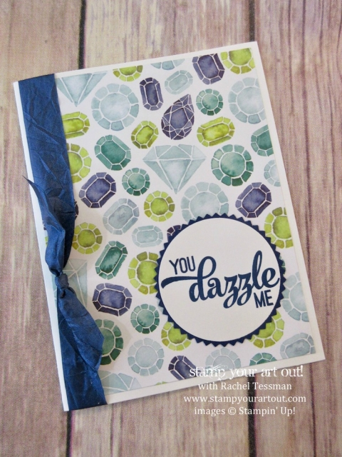 Here is a super simple card layout where the paper offers the main design element. These cards feature a sentiment image from the Pocketful of Sunshine stamp set, the Naturally Eclectic Designer Paper & coordinating Crinkled Seam Binding Ribbon....#stampyourartout #stampinup - Stampin' Up!® - Stamp Your Art Out! www.stampyourartout.com