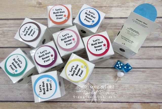 3-D dice party invitations for my kiddo's 5th Grade Farewell Party…#stampyourartout #stampinup - Stampin' Up!® - Stamp Your Art Out! www.stampyourartout.com