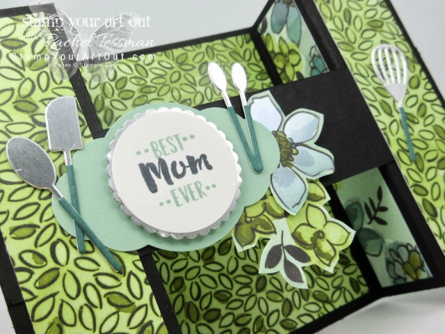 Here is a fun Bridge Fold Card created with the Share What You Love Designer Paper, the Apron of Love Stamp Set, & the coordinating Apron Builder Framelits Dies. It's a tease of the exclusive project that I'll be sharing with my Paper Crafters Club Members…#stampyourartout #stampinup - Stampin' Up!® - Stamp Your Art Out! www.stampyourartout.com