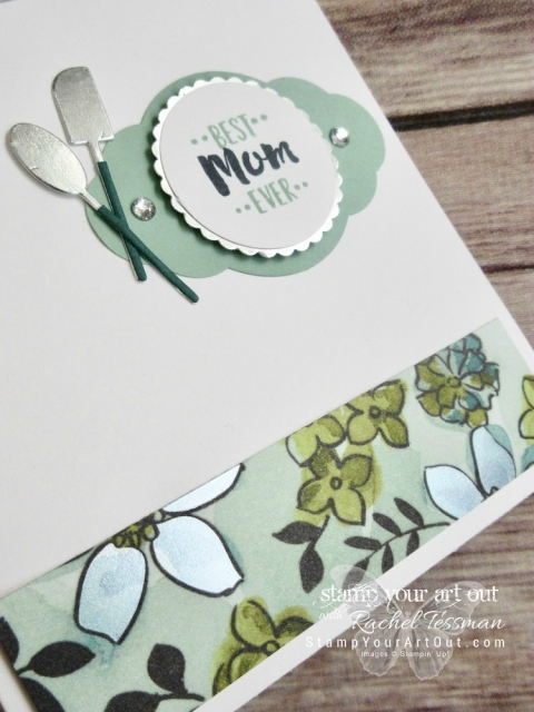 I combined the Apron of Love bundle with the Share What You Love designer paper to get this pretty Mother's Day card. Click here to see a few other card ideas created with the new Share What You Love suite of products debuting in the 2018-19 Annual Catalog. Want to get your hands on some/all of the Share What You Love products early? Three fun bundles with these products are available now!...#stampyourartout #stampinup - Stampin' Up!® - Stamp Your Art Out! www.stampyourartout.com