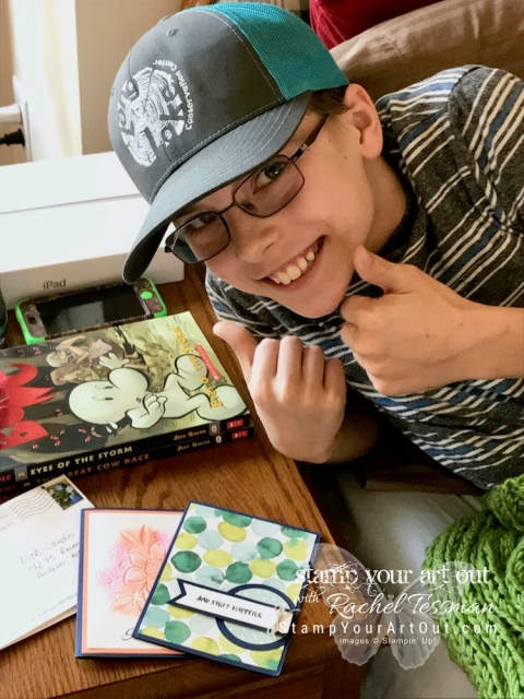 Nick broke his kneecap. But he's got a great attitude and is determined to heal in time to enjoy most of his summer…#stampyourartout #stampinup - Stampin' Up!® - Stamp Your Art Out! www.stampyourartout.com