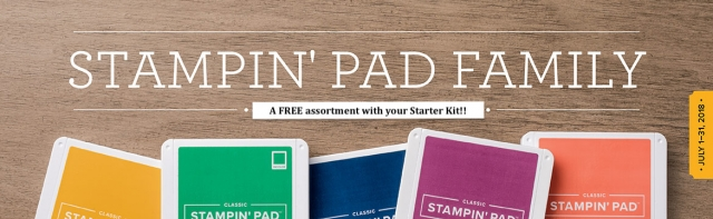 Get a free assortment of ink pads when you purchase the Stampin' Up! Starter Kit July 1-31, 2018! Click here for details…#stampyourartout #stampinup - Stampin' Up!® - Stamp Your Art Out! www.stampyourartout.com