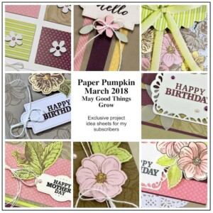 Sneak Peek at the March 2018 May Good Things Grow Paper Pumpkin Kit exclusive alternate projects …#stampyourartout #stampinup - Stampin' Up!® - Stamp Your Art Out! www.stampyourartout.com