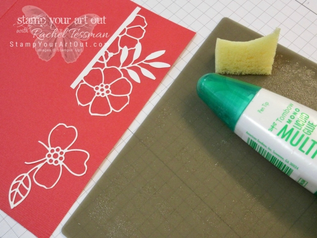 Delightfully Detailed Laser-cut designer paper is easy to adhere when you sponge Multipurpose Glue on the backside.…#stampyourartout #stampinup - Stampin' Up!® - Stamp Your Art Out! www.stampyourartout.com