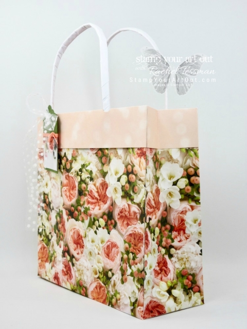 A beautiful collapsible gift bag made with two full 12x12 sheets of Petal Promenade Designer Paper…#stampyourartout #stampinup - Stampin' Up!® - Stamp Your Art Out! www.stampyourartout.com