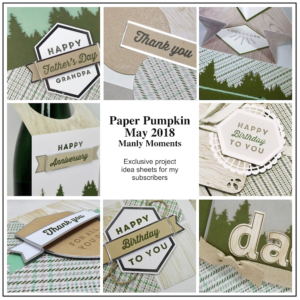 Sneak Peek at the May 2018 Manly Moments Paper Pumpkin Kit exclusive alternate projects …#stampyourartout #stampinup - Stampin' Up!® - Stamp Your Art Out! www.stampyourartout.com