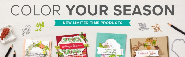 Color Your Season August 2018 Promotion…#stampyourartout #stampinup - Stampin' Up!® - Stamp Your Art Out! www.stampyourartout.com