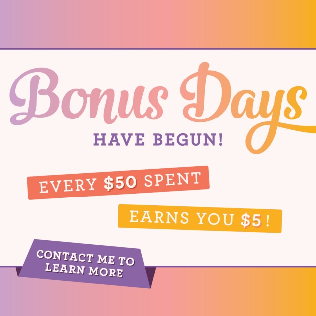 Bonus Days are here! For every $50 you spend in August, you earn a $5 coupon to use in September…#stampyourartout #stampinup - Stampin' Up!® - Stamp Your Art Out! www.stampyourartout.com