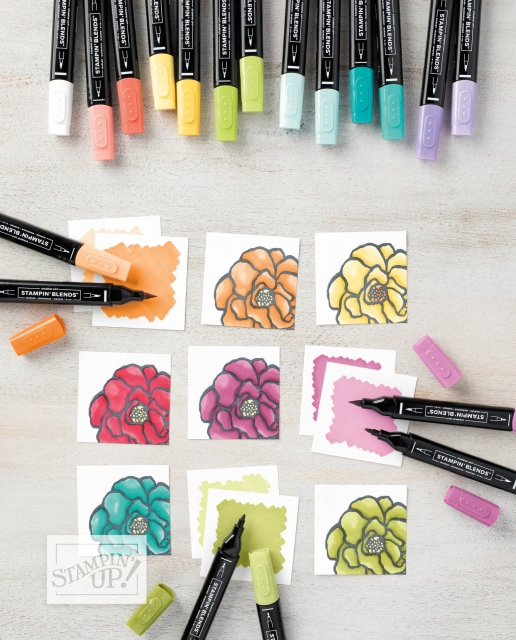 Stampin' Blends Alcohol-Based Markers from Stampin' Up!…#stampyourartout #stampinup - Stampin' Up!® - Stamp Your Art Out! www.stampyourartout.com
