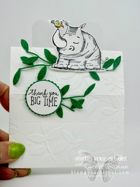 Click here for more information on how to make this super fun freestanding pop up card (my Alaskan cruise swap card!) with products from the Animal Expedition Suite: the Animal Outing stamp set, the Animal Friends Thinlits dies, and the Leaf Ribbon. I've also included a link to a tutorial video …#stampyourartout #stampinup - Stampin' Up!® - Stamp Your Art Out! www.stampyourartout.com
