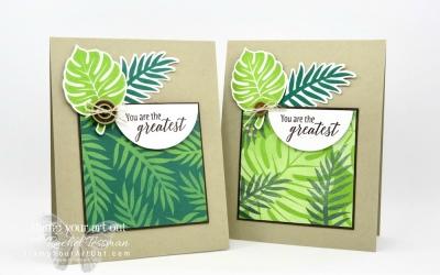 Tropical Leaves Team Make-n-Take Card