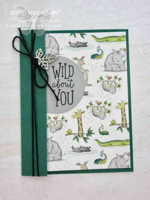 Show off BOTH sides of your designer paper with this card layout! Click here to see three cards I put together in this same way using products from the Animal Expedition suite in the 2018-19 Annual Catalog: the Animal Outing Stamp Set & the Animal Expedition Designer Series Paper....#stampyourartout #stampinup - Stampin' Up!® - Stamp Your Art Out! www.stampyourartout.com