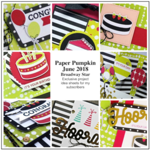 Sneak Peek at the June 2018 Broadway Star Paper Pumpkin Kit exclusive alternate projects …#stampyourartout #stampinup - Stampin' Up!® - Stamp Your Art Out! www.stampyourartout.com