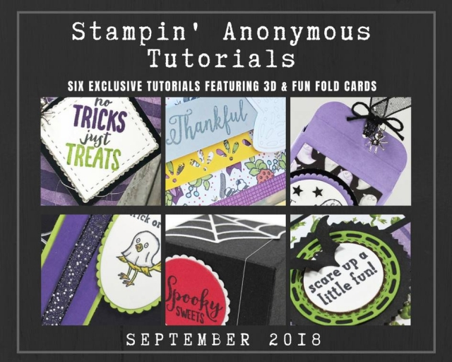 "Monthly Tutorial Bundles contain 6 EXCLUSIVE ""better than flat"" projects (fun fold cards or 3-D items) created by myself and 5 other talented, but anonymous Stampin' Up! demonstrators. Place an order in the month of September, and get this bundle for free! Or choose the option to purchase them for just $9.95…#stampyourartout #stampinup - Stampin' Up!® - Stamp Your Art Out! www.stampyourartout.com"
