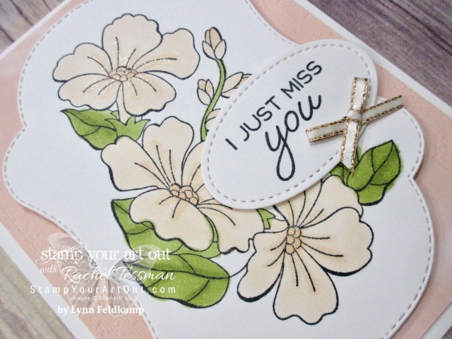 I love this beautiful floral card (a swap card from Lynn Feldkamp) made with the limited-time Blended Seasons stamp set, coordinating Stitched Seasons Framelits dies, and Stampin' Blends markers! The stamp set and dies are only available through the month of August 2018. …#stampyourartout #stampinup - Stampin' Up!® - Stamp Your Art Out! www.stampyourartout.com