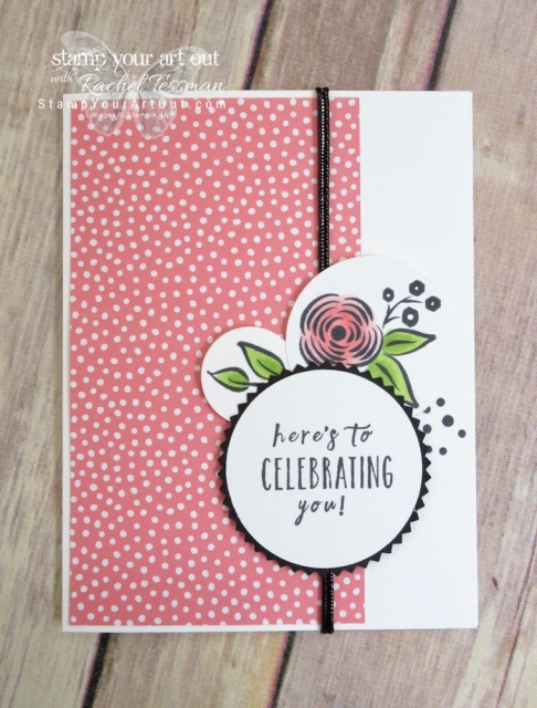 "The Brights Designer Paper paired with coordinating Stampin' Blends Markers are so fun with the Perennial Birthday stamp images on these fun ""Celebrating You"" cards…#stampyourartout #stampinup - Stampin' Up!® - Stamp Your Art Out! www.stampyourartout.com"