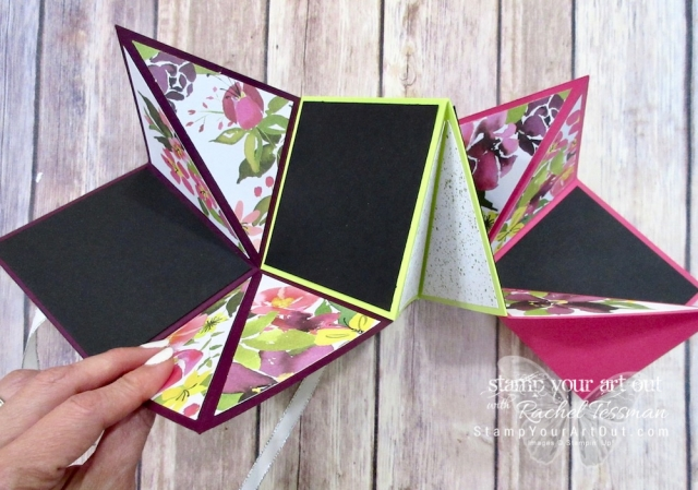 "Click here to watch a how-to video and see fun alternate project ideas I created with the August 2018 Blissful Blooms Paper Pumpkin kit: a Toblerone candy bar wrap, floral decorations for a clear tiny treat box, cupcake holders with mini pizza boxes, an origami ""squash"" album, and more!…#stampyourartout #stampinup - Stampin' Up!® - Stamp Your Art Out! www.stampyourartout.com"