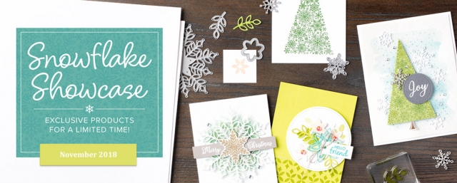Snowflake Showcase! Click here to see five exclusive products that are available to demonstrators now and will be made available to all during the month of November 2018. Click here for more details…#stampyourartout #stampinup - Stampin' Up!® - Stamp Your Art Out! www.stampyourartout.com
