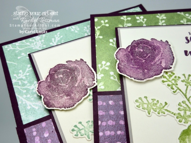 Click here to see several projects created with the Frosted Floral Suite: First Frost stamp set, Frosted Bouquet Framelits and the Frosted Floral Specialty Designer Paper (every sheet shimmers)…#stampyourartout #stampinup - Stampin' Up!® - Stamp Your Art Out! www.stampyourartout.com