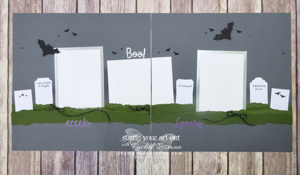 Click here to watch a how-to video and see fun alternate project ideas I created with the September 2018 Frights & Delights Paper Pumpkin kit: flap carsd with slide off treat bags, gift card holders, a 12x12 tombstone scrapbook page layout, pumpkin muffin toppers, & Christmas-themed tags!…#stampyourartout #stampinup - Stampin' Up!® - Stamp Your Art Out! www.stampyourartout.com