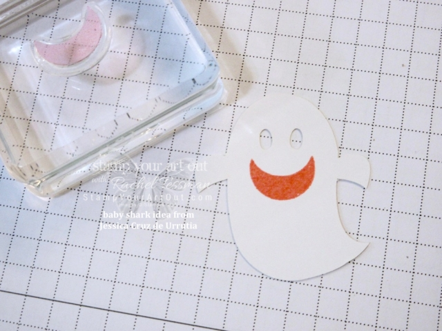 "I just had to CASE the ""baby shark from the ghost"" idea from Jessica Cruz de Urrutia and make a card of my own! Too cute! Click here to see one more alternate project idea that I put together (and gifted to a few of my subscribers) with the September 2018 Frights & Delights Paper Pumpkin kit…#stampyourartout #stampinup - Stampin' Up!® - Stamp Your Art Out! www.stampyourartout.com"