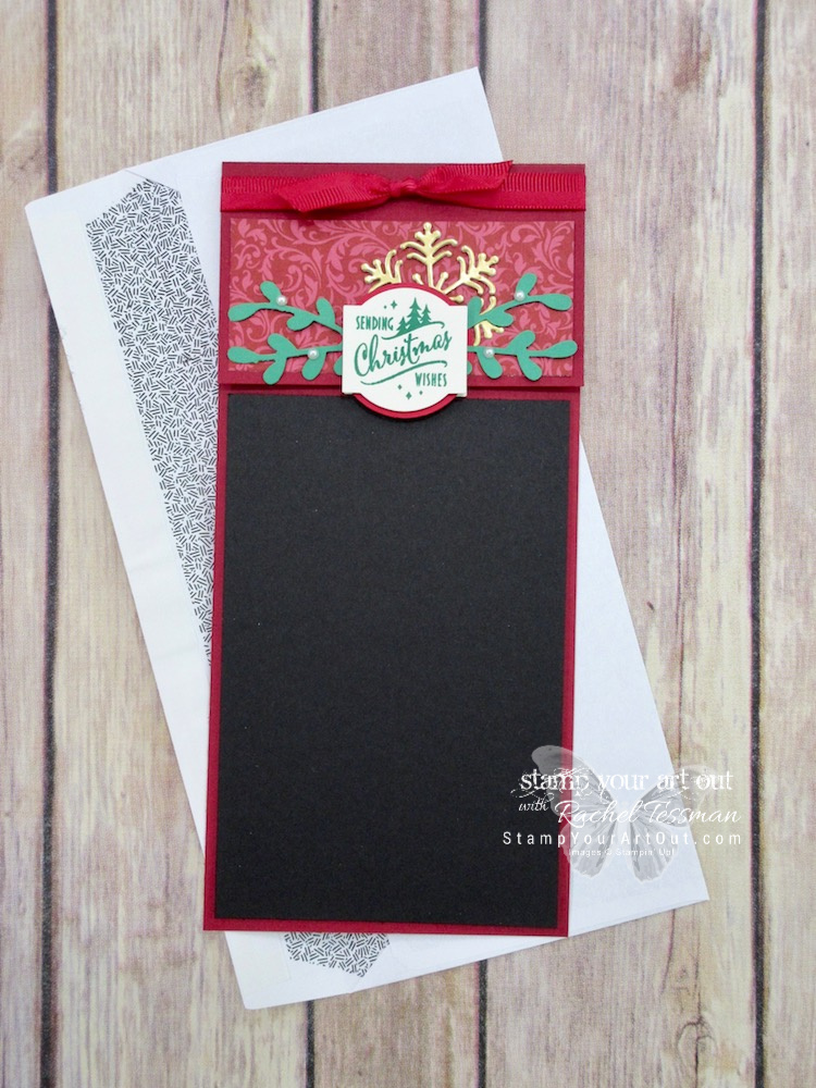 Click here to see how to make the ideal paper crafter's holiday photo card. I created this one with the punch and stamp set from the Christmas Traditions Punch Box, Blizzard Thinlits Die, Dashing Along designer paper, and Sprig Punch…#stampyourartout #stampinup - Stampin' Up!® - Stamp Your Art Out! www.stampyourartout.com