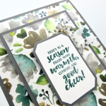 "One of my favorite designer papers in our 2018 Holiday catalog is Frosted Floral. Click here to see how to make this fun card using the ""double time"" technique. (Both designer paper layers are from one 4"" x 5-1/4"" sheet.)…#stampyourartout #stampinup - Stampin' Up!® - Stamp Your Art Out! www.stampyourartout.com"
