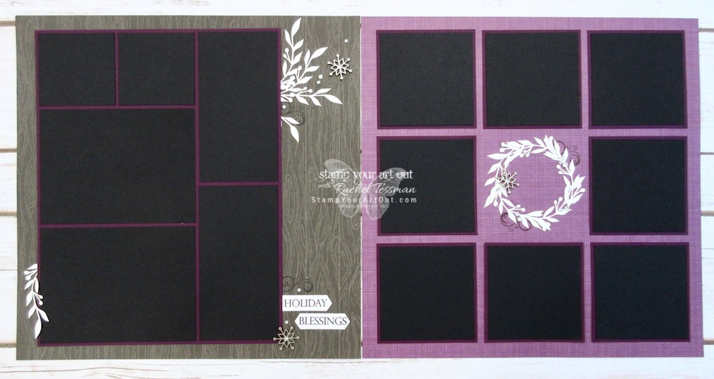 Click here to see fun alternate project ideas I created with the October 2018 Friends of a Feather Paper Pumpkin kit: a 12x12 scrapbook page holiday layout with white, snowy branches and a wreath, two Step Panel fun-fold cards, and the cards I sent to a few of my personal subscribers.…#stampyourartout #stampinup - Stampin' Up!® - Stamp Your Art Out! www.stampyourartout.com