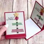 I was inspired by a swap card that I received from Nancy Johnson, so I CASEd her design and created these fun covers for Post It note pads. Click here to see more photos and to get directions for these great stocking stuffers…#stampyourartout #stampinup - Stampin' Up!® - Stamp Your Art Out! www.stampyourartout.com