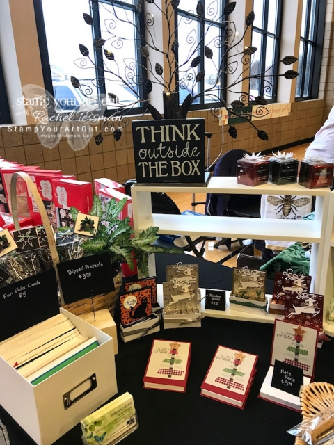 My booth at the Holiday Bazaar Craft & Vendor Fair on November 3, 2018.…#stampyourartout #stampinup - Stampin' Up!® - Stamp Your Art Out! www.stampyourartout.com