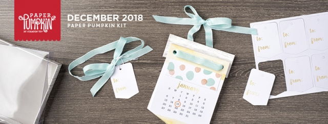 The December 2018 Day by Day Paper Pumpkin kit. #stampyourartout #stampinup - Stampin' Up!® - Stamp Your Art Out! www.stampyourartout.com