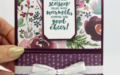 Frosted Floral Slide Out Pocket Card & Close Outs