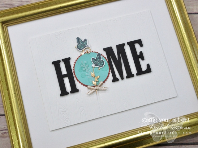 "Click here to see how I turn some of the beautiful new product that will be available in the 2019 Occasions Catalog (the Beauty Abounds stamp set and the coordinating Butterfly Thinlits dies) into ""card candy"" that can embellish a card front or become the ""O"" in my 12 Months of Home class project. You can also find measurements, a complete list of supplies, and a link to a how-to video that includes directions for how to make this beautiful butterfly accent piece!...#stampyourartout #stampinup - Stampin' Up!® - Stamp Your Art Out! www.stampyourartout.com"