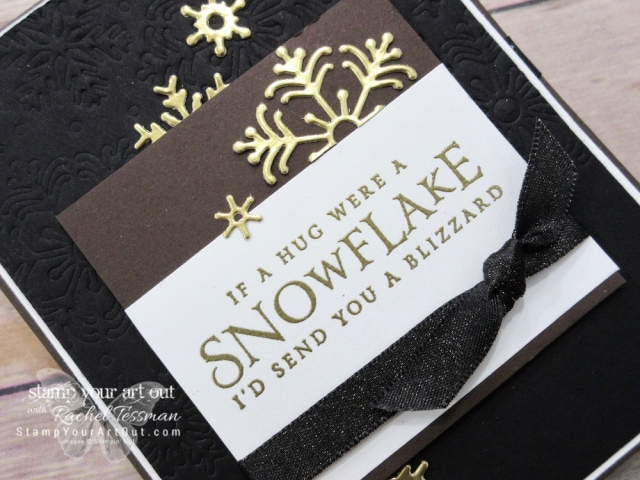 I'd send you a Blizzard card created with the Beautiful Blizzard Bundle of products: The Beautiful Blizzard stamp set and coordinating Blizzard Thinlits Die. This would be perfect for sending thank yous after the holiday season! #stampyourartout #stampinup - Stampin' Up!® - Stamp Your Art Out! www.stampyourartout.com