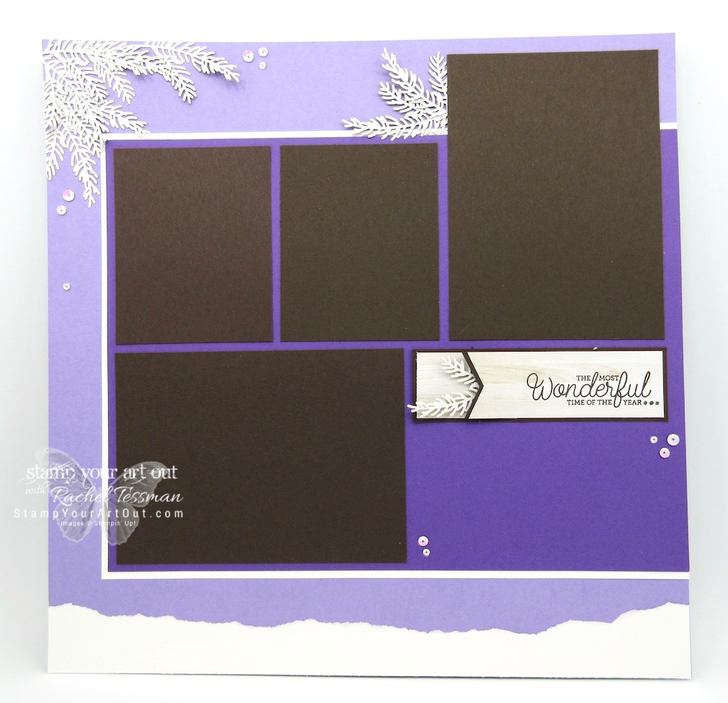 Winter/Summer 12x12 scrapbook pages created with the November 2018 To You And Yours Paper Pumpkin Kit! …#stampyourartout #stampinup - Stampin' Up!® - Stamp Your Art Out! www.stampyourartout.com