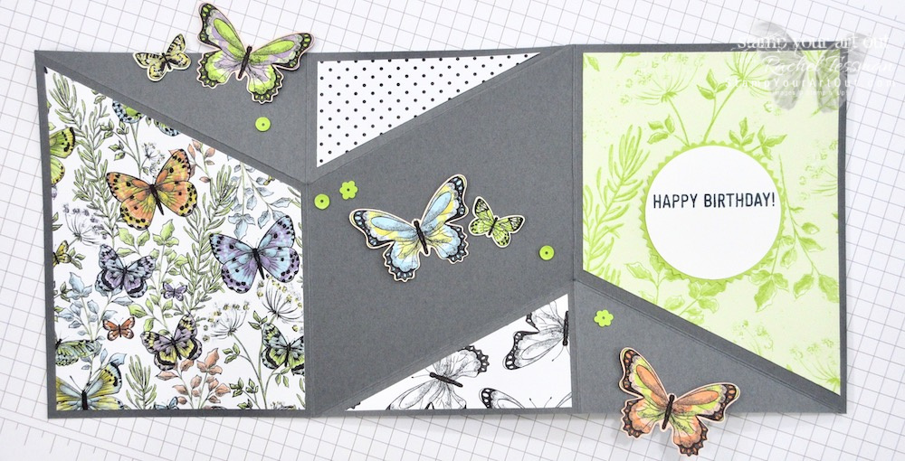 Click here to see six versions of a Mini Miura Fold card! All of them come to life because of the beautiful Botanical Butterflies Designer Paper (one of our 2019 Sale-a-Bration free picks with a $50 product order). I came up with all the measurements myself, so I'm super excited to share with you. Be sure to watch the how-to video too, so you can see all my tips and tricks and get the step-by-step directions! #stampyourartout #stampinup - Stampin' Up!® - Stamp Your Art Out! www.stampyourartout.com