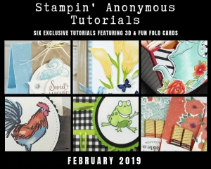 "Monthly Tutorial Bundles contain 6 EXCLUSIVE ""better than flat"" projects (fun fold cards or 3-D items) created by myself and 5 other talented, but anonymous Stampin' Up! demonstrators. Place an order in the month of February, and get this bundle for free! Or choose the option to purchase them for just $9.95…#stampyourartout #stampinup - Stampin' Up!® - Stamp Your Art Out! www.stampyourartout.com"