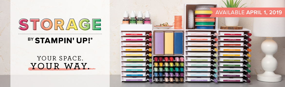 Starting April 1, 2019 Stampin' Up!® will be offering interchangeable, stackable, customizeable storage units for ink pads, markers, blends, ink refills and more! #stampyourartout #stampinup - Stampin' Up!® - Stamp Your Art Out! www.stampyourartout.com