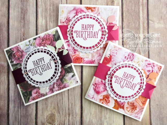 Click here to see three versions of my Ori Base Fold Card that I made with the Petal Promenade Designer Paper and the Happy Birthday Gorgeous Stamp Set from the 2018-19 Annual Catalog! These are square cards, but they fit in a standard A2 envelope. Access measurements and shop the products I used. Be sure to watch the how-to video too, so you can see all my tips and tricks and get the step-by-step directions! #stampyourartout #stampinup - Stampin' Up!® - Stamp Your Art Out! www.stampyourartout.com