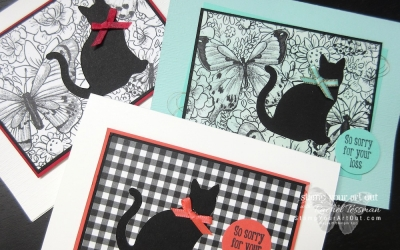 Cat Silhouette Sympathy Card