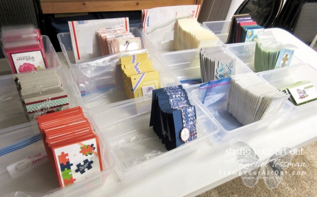 Getting ready for my Shoebox Swap event! #stampyourartout #stampinup - Stampin' Up!® - Stamp Your Art Out! www.stampyourartout.com