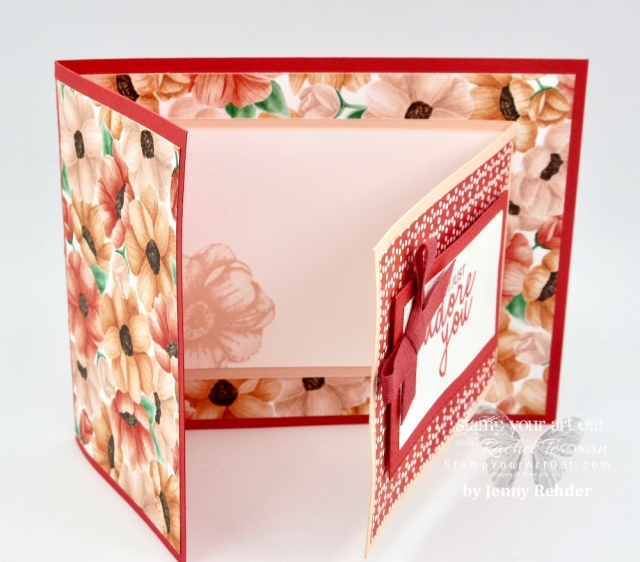Gotta love free designer paper! This card features some of the designer paper being offered during Sale-a-Bration 2019. #stampyourartout #stampinup - Stampin' Up!® - Stamp Your Art Out! www.stampyourartout.com