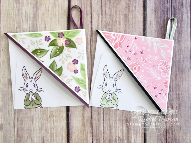 Click here to see a couple festive Easter-themed corner bookmarks using the Fable Friends stamp set and Blends Markers. I also share a couple other versions using other stamp images, the Floral Romance vellum, Fresh Fig ink cardstock and ribbon, and 3x3 envelopes. Access measurements and shop the products I used. Be sure to watch the how-to video too so you can see all my tips and tricks and get the step-by-step directions!  #stampyourartout #stampinup - Stampin' Up!® - Stamp Your Art Out! www.stampyourartout.com