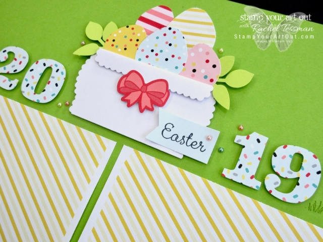 Click here to see fun alternate project ideas I created with the March 2018 Poppin' Birthday Paper Pumpkin kit: a 12x12 scrapbook page Easter-themed layout and matching greeting card (the one I designed to send to a few of my Paper Pumpkin subscribers). #onestopbox #stampyourartout #stampinup - Stampin' Up!® - Stamp Your Art Out! www.stampyourartout.com
