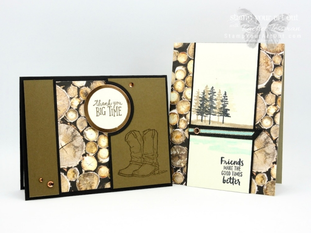 Click here to see a two channel cards featuring the Wood Textures Designer Paper – one with the Waterfront Stamp Set (influenced by a card that Emma Goddard designed) and the other with the Country Livin' and Animal Outing Stamp Sets. Access measurements and shop the products I used. Be sure to watch the how-to video too so you can see all my tips and tricks and get the step-by-step directions! #stampyourartout #stampinup - Stampin' Up!® - Stamp Your Art Out! www.stampyourartout.com