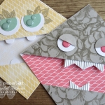 "Click here to see & get details about how to make a monster-themed corner bookmark using the contents of the April 2019 Sentimental Rose Paper Pumpkin Kit. I share two versions of the monsters and share three other bookmarks. Plus you can see several other alternate project ideas created with this kit in our blog hop: ""A Paper Pumpkin Thing""! #onestopbox #stampyourartout #stampinup - Stampin' Up!® - Stamp Your Art Out! www.stampyourartout.com"