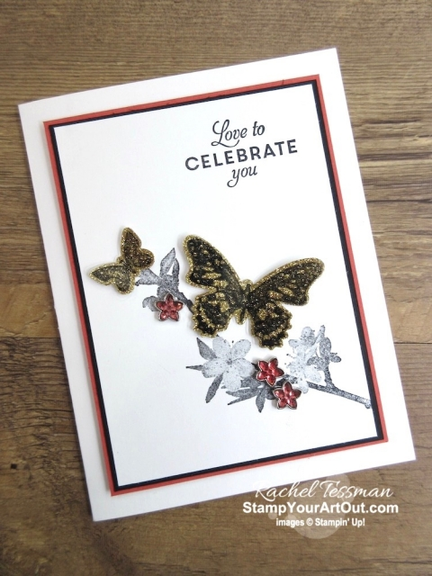 Click here to see how to stamp and color window sheets (acetate) and then add a layer of glimmer paper (much easier than the clear glue and glitter method!). This is best done with rubber (not photopolymer) stamps and easiest with images that coordinate with framelits or punches. I used the Butterfly Wishes Stamp Set, the Butterfly Duet Punch, Glimmer Paper, and Stampin' Blends Markers. Watch my video so you can see all my tips and tricks and get the step-by-step directions! You'll also be able to access measurements, other close-up photos, and links to the products I used. #stampyourartout #stampinup - Stampin' Up!® - Stamp Your Art Out! www.stampyourartout.com