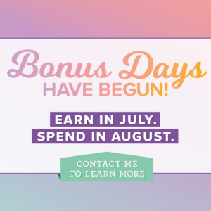 Bonus Days is back! #stampyourartout #stampinup - Stampin' Up!® - Stamp Your Art Out! www.stampyourartout.com