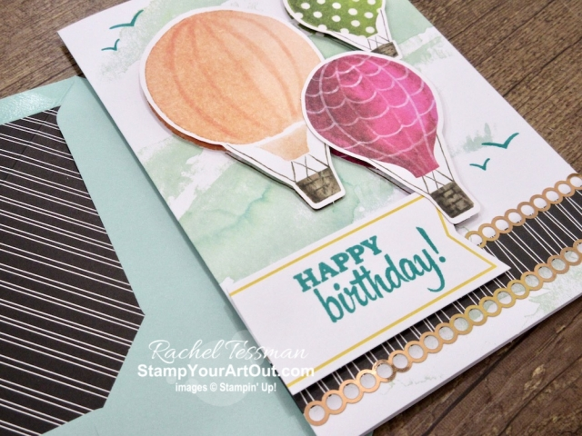We have a new all-inclusive card kit called Looking Up. This kit is all-inclusive, because everything you need is in the kit including the stamps, ink, a clear block and adhesives. I altered the intended cards just a little bit by using some of the extra supplies. Yep! This kit includes extras so you can add extra card base pieces & envelopes to make additional cards OR use the extras to give your cards a little more 3-D effect (which is what I did). Click here to see all the cards and to learn more. #stampyourartout #stampinup - Stampin' Up!® - Stamp Your Art Out! www.stampyourartout.com